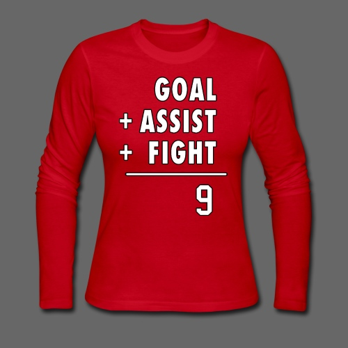 Hat Trick Math - Women's Long Sleeve Jersey T-Shirt