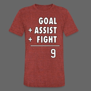 Hat Trick Math - Unisex Tri-Blend T-Shirt by American Apparel