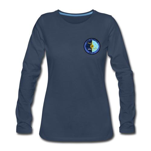 USS INTREPID CV-11 LONG SLEEVE - WOMENS - Women's Premium Long Sleeve T-Shirt