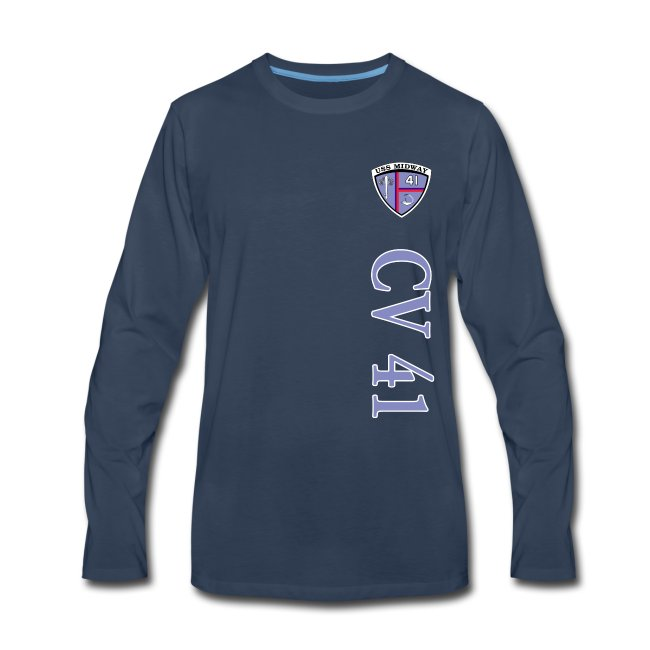 USS MIDWAY CV-41 VERTICAL STRIPE LONG SLEEVE