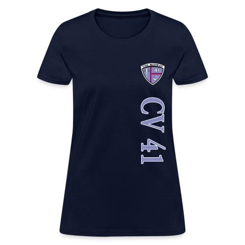 USS MIDWAY CV-41 VERTICAL STRIPE TEE - WOMENS - Women's T-Shirt