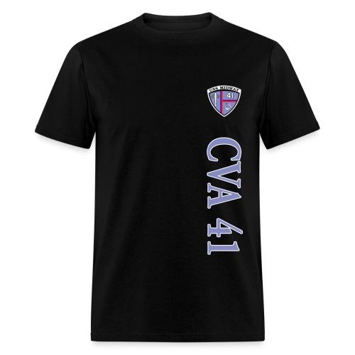 USS MIDWAY CVA-41 VERTICAL STRIPE TEE - Men's T-Shirt