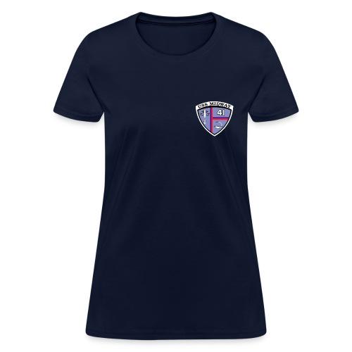 USS MIDWAY CVA/CV-41 TEE - WOMENS - Women's T-Shirt