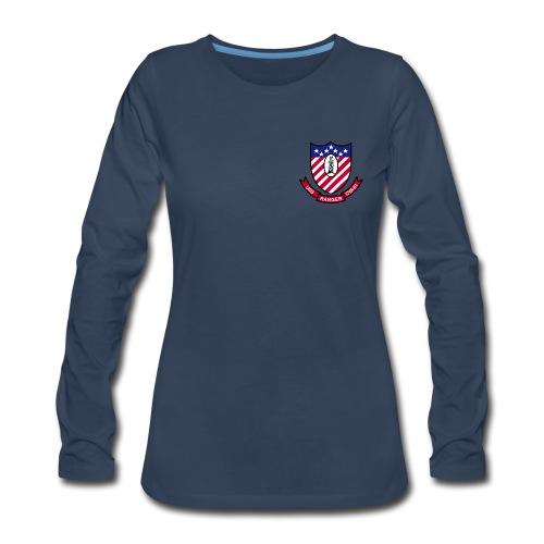 USS RANGER CVA-61 LONG SLEEVE - WOMENS - Women's Premium Long Sleeve T-Shirt