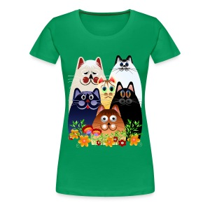 GARDEN CLOWDER of CATS - Women's Premium T-Shirt