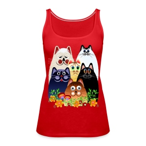GARDEN CLOWDER of CATS - Women's Premium Tank Top