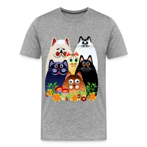 GARDEN CLOWDER of CATS - Men's Premium T-Shirt