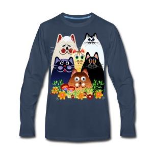GARDEN CLOWDER of CATS - Men's Premium Long Sleeve T-Shirt