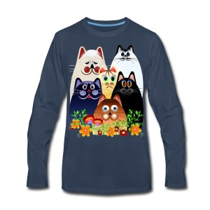 GARDEN CLOWDER of CATS - Men's Premium Long Sleeve T-Shirt