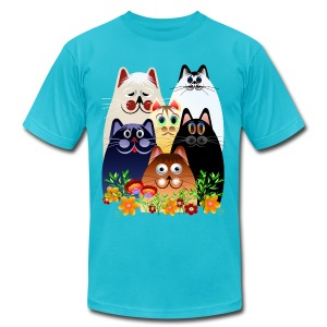 GARDEN CLOWDER of CATS - Men's T-Shirt by American Apparel