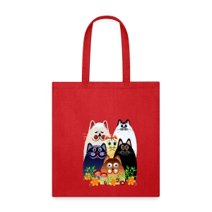 GARDEN CLOWDER of CATS - Tote Bag