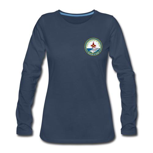 USS GEORGE HW BUSH CVN-77 LONG SLEEVE - WOMENS - Women's Premium Long Sleeve T-Shirt