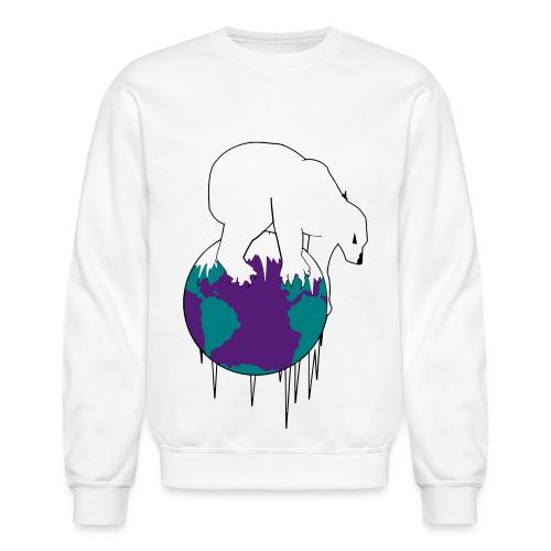 Unisex Polar World Crewneck [White] - Crewneck Sweatshirt