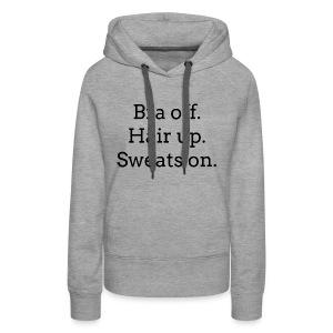 Rest Day White Sweats - Women's Premium Hoodie