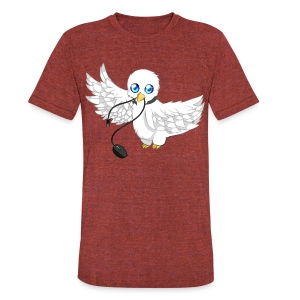Unisex Dove Kun  - Unisex Tri-Blend T-Shirt by American Apparel