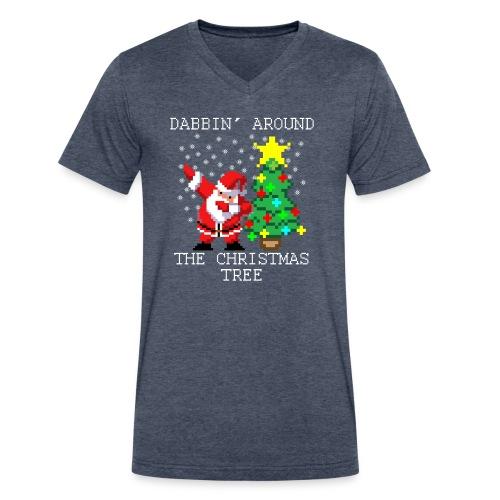 Dabbin' Around The Christmas Tree T-Shirts - Men's V-Neck T-Shirt by Canvas
