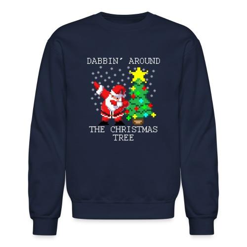 Dabbin' Around The Christmas Tree Long Sleeve Shirts - Crewneck Sweatshirt