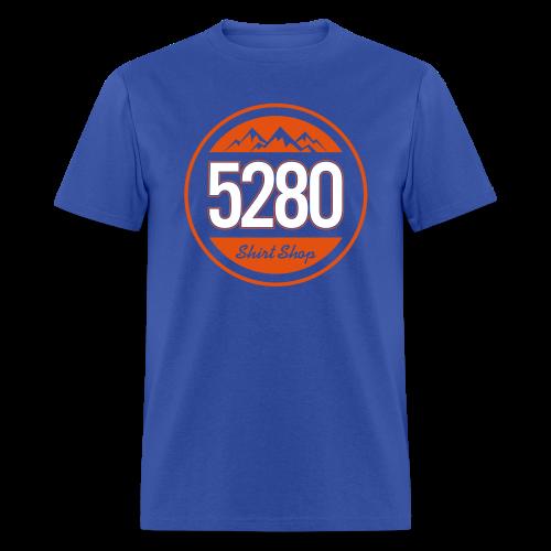 5280 Tee - Orange and Blue - Mens - Men's T-Shirt