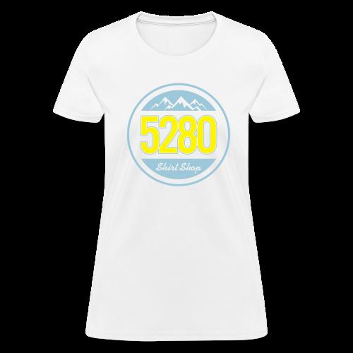 5280 Tee - Blue and Yellow - Ladies - Women's T-Shirt
