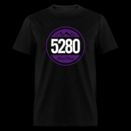 5280 Tee - Purple and White - Mens - Men's T-Shirt