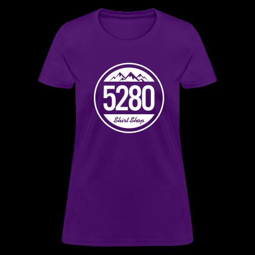 5280 Tee - Purple and White - Ladies - Women's T-Shirt