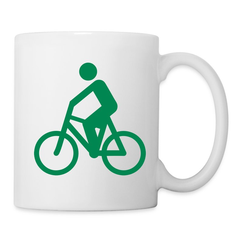 Cyclist Silhouette Mug | Spreadshirt