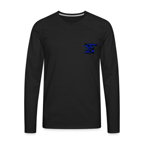 Zaedical Dark Blue Zebra Long Sleeve - Men's Premium Long Sleeve T-Shirt