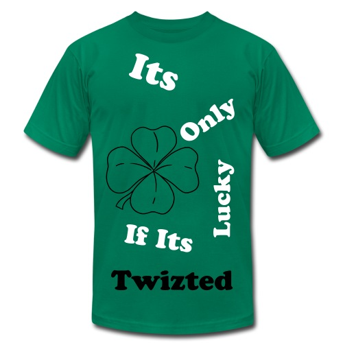 Its only lucky if its twizted T-shirt - Men's Fine Jersey T-Shirt