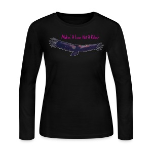 CaliLiliCondor™ Makin' A Livin' Not A Killin™ TEEclipse/BlackLongSleeve/Eclipse2017OutlineCondor ©CaliLili™feMt0™studi0 All Rights Reserved  - Women's Long Sleeve Jersey T-Shirt