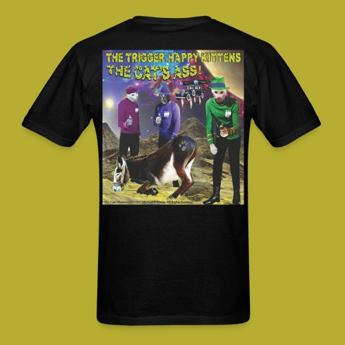 Th4e Cats' Ass _ FRONT & The Cats' Homeworld! - on BACK - Men's T-Shirt - Men's T-Shirt