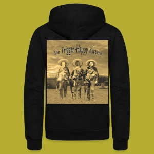 THK Bandidos on BACK _ Women;s Zipper Hoodie - Unisex Fleece Zip Hoodie by American Apparel