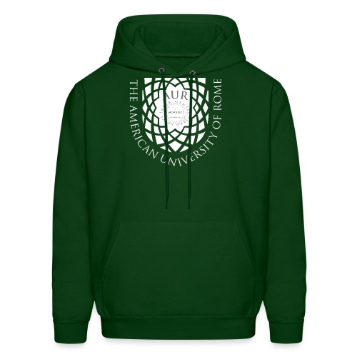 Men's Hoodie - in green with current crest - Men's Hoodie