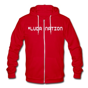 #LUDANATION Double Sided - Unisex Fleece Zip Hoodie by American Apparel
