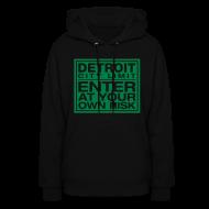 Hoodies ~ Women's Hoodie ~ Detroit Risk Womens Hoodie