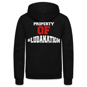 Property Of #Ludanation - Unisex Fleece Zip Hoodie by American Apparel