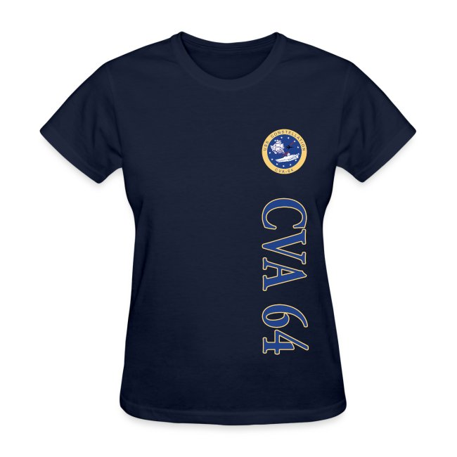 USS CONSTELLATION CVA-64 VERTICAL STRIPE TEE - WOMENS