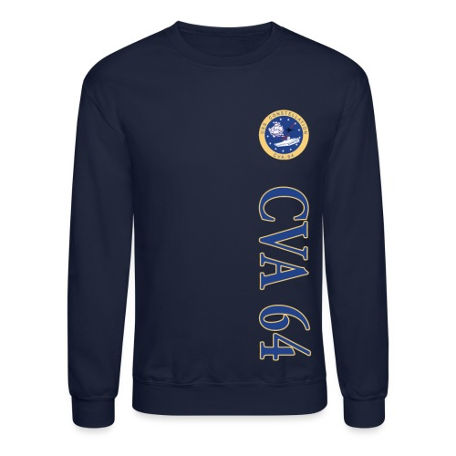 USS CONSTELLATION CVA-64 VERTICAL STRIPE SWEATSHIRT - Crewneck Sweatshirt