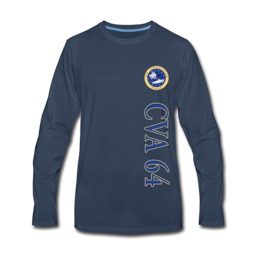 USS CONSTELLATION CVA-64 VERTICAL STRIPE LONG SLEEVE - Men's Premium Long Sleeve T-Shirt