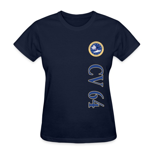 USS CONSTELLATION CV-64 VERTICAL STRIPE TEE - WOMENS - Women's T-Shirt