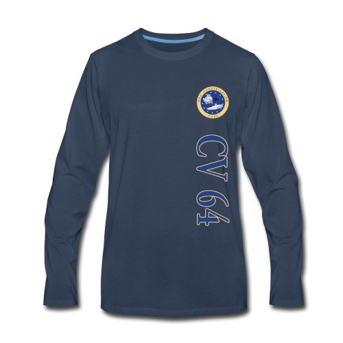 USS CONSTELLATION CV-64 VERTICAL STRIPE LONG SLEEVE - Men's Premium Long Sleeve T-Shirt