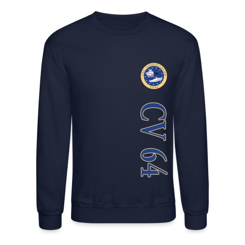 USS CONSTELLATION CV-64 VERTICAL STRIPE SWEATSHIRT - Crewneck Sweatshirt