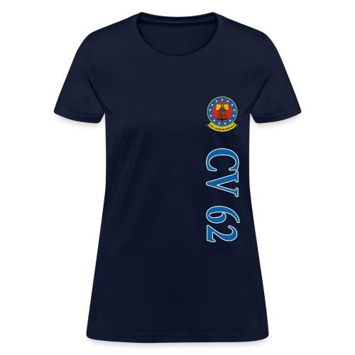 USS INDEPENDENCE CV-62 VERTICAL STRIPE TEE - WOMENS - Women's T-Shirt