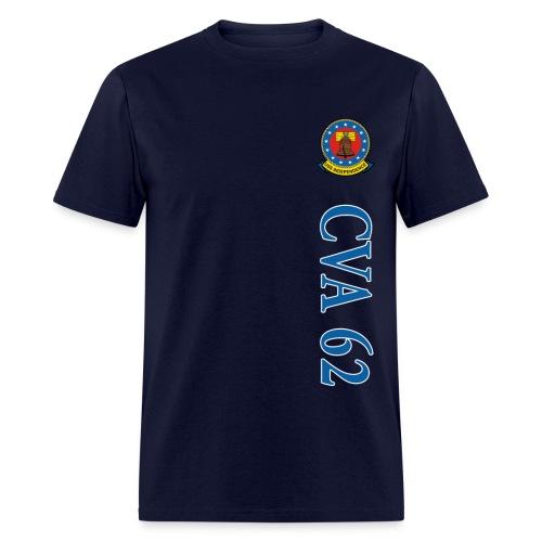 USS INDEPENDENCE CVA-62 VERTICAL STRIPE TEE - Men's T-Shirt