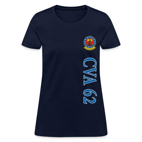 USS INDEPENDENCE CVA-62 VERTICAL STRIPE TEE - WOMENS - Women's T-Shirt