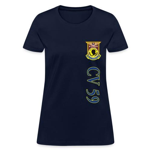 USS FORRESTAL CV-59 VERTICAL STRIPE TEE - WOMENS - Women's T-Shirt