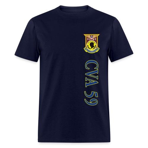 USS FORRESTAL CVA-59 VERTICAL STRIPE TEE - Men's T-Shirt