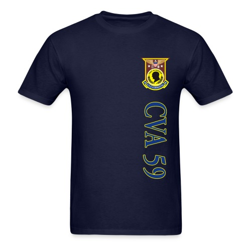 USS FORRESTAL CVA-59 VERTICAL STRIPE TEE - Men's T-Shirt