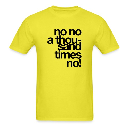 no x 1000 - Men's T-Shirt