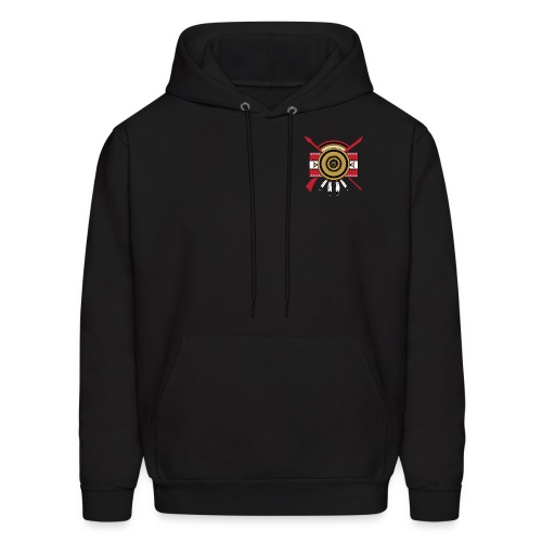 IDC Men's/Unisex Hoodie (Full-Color Red Emblem) - Men's Hoodie