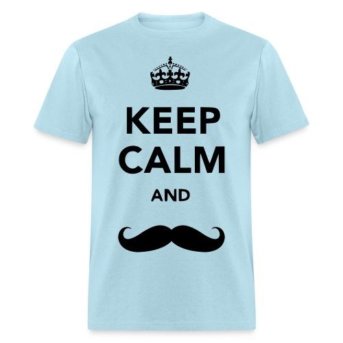 Keep Calm and Mustache: Men's - Men's T-Shirt